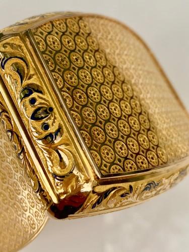 19th century - Gold pocket snuffbox