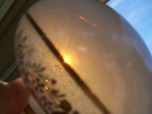 Flacon opal crystal decoration Desvignes -