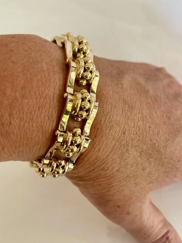 "Antique Jewellery  - Bracelet ""Tank"" en or rose circa 1940-1950"