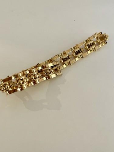 """20th century - Bracelet """"Tank"""" en or rose circa 1940-1950"""