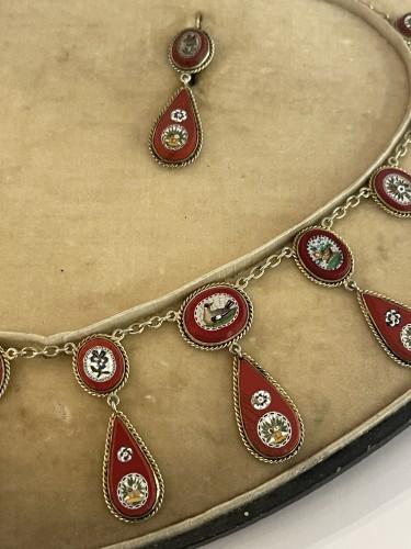 Antique Jewellery  - micro mosaic set 19 th century