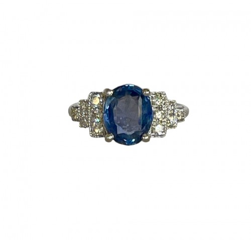 Ring In Gold And Natural Sapphire Certified Without Treatment