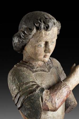 Archangel Michael, France, 16th century - Sculpture Style Middle age