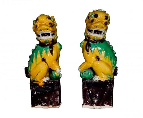 Pair of Guardian Lions (Kangxi, 1662-1722)
