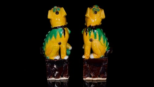 Pair of Guardian Lions (Kangxi, 1662-1722) -