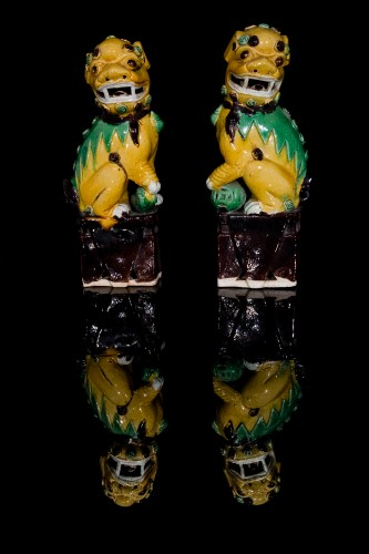 - Pair of Guardian Lions (Kangxi, 1662-1722)
