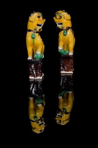 Antiquités - Pair of Guardian Lions (Kangxi, 1662-1722)