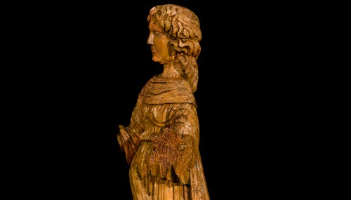 Female Saint (16th century) - Sculpture Style Middle age