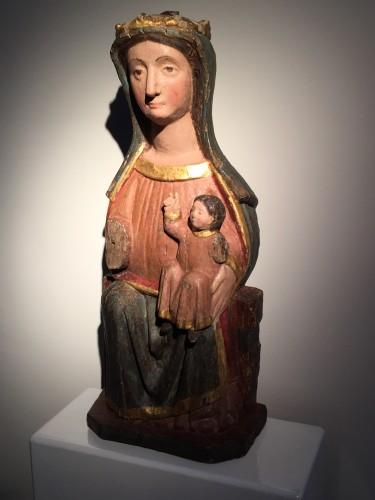 Sculpture  - Sedes Sapientiae (14th century)