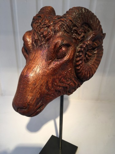 Sculpture  - Head of a Ram (France, 16th century)