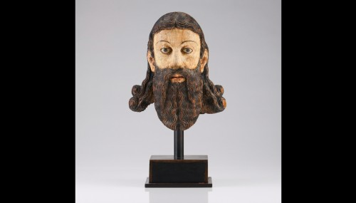 Head of a Saint (ca. 1600)   - Religious Antiques Style Middle age