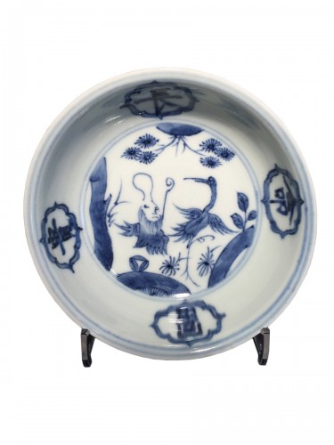 Ming bowl with Daoist Immortal (Jiajing 1521-1567)