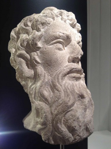 Head of an Apostle - France, 16th century - Sculpture Style Middle age