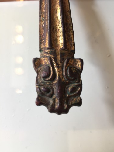 Gilt Bronze Belt Hook, China, Han dynasty (206 BC - 220 AD) -