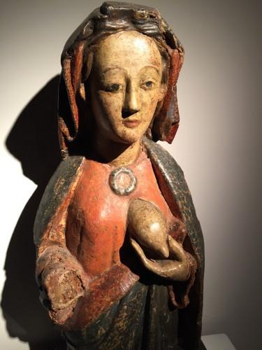 Religious Antiques  - Maria Lactans (Rhine region, XVth century)