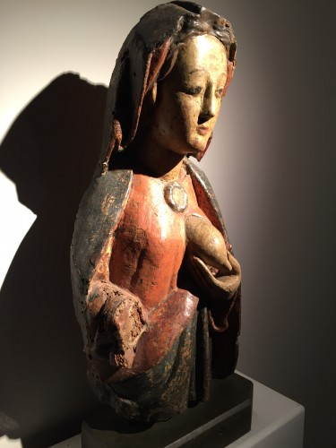 Middle age - Maria Lactans (Rhine region, XVth century)