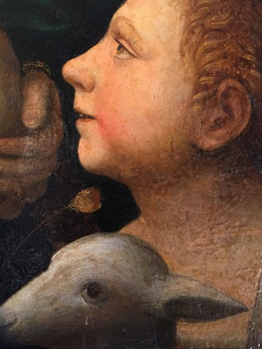 Saint John Baptist as a child with Lamb (Italy, 1500-1525) - Paintings & Drawings Style Renaissance