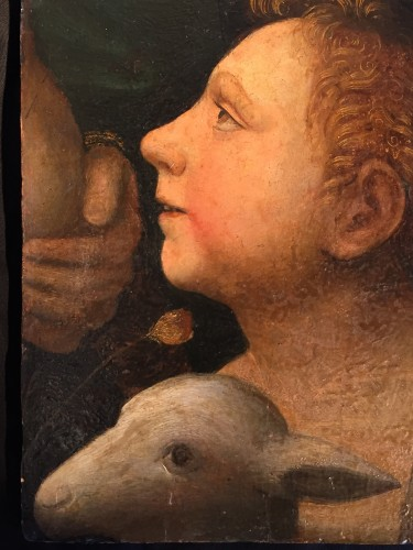 Saint John Baptist as a child with Lamb (Italy, 1500-1525) -