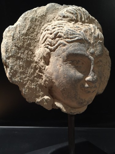 Middle age - Head of the Buddha (Gandhara, 2nd-4th century AD)