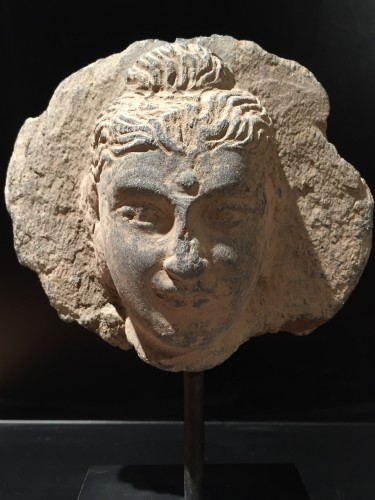 Antiquités - Head of the Buddha (Gandhara, 2nd-4th century AD)