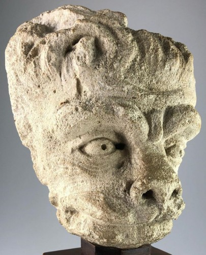 Head of a Lion, France 15th century - Sculpture Style Middle age