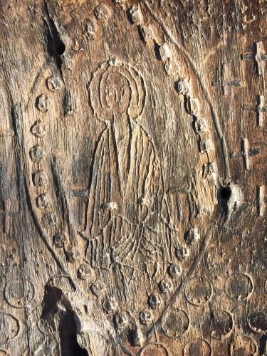 Religious Antiques  - Female Saint in Mandorla (16th cent)