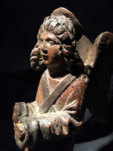 16th century - Wooden Angel , late 16th century
