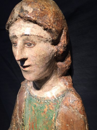 Young Saint (Italy, Umbria 15th cent) - Sculpture Style Middle age