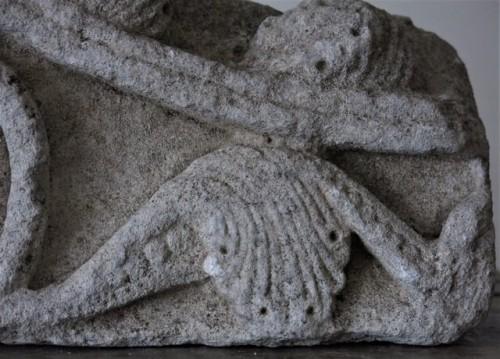 Romanesque limestone fragment (France, 12th cent) -