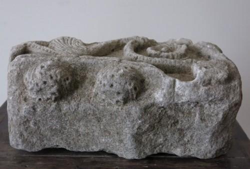 Antiquités - Romanesque limestone fragment (France, 12th cent)