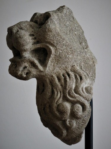 Sculpture  - Lions Head (France, 16th cent)