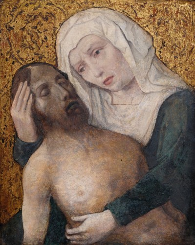 Pieta (Flanders, ca.1500) - Paintings & Drawings Style Middle age