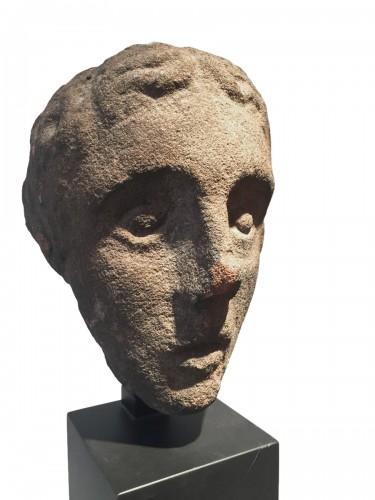 Head of a Youth (West Britain, 14th century)