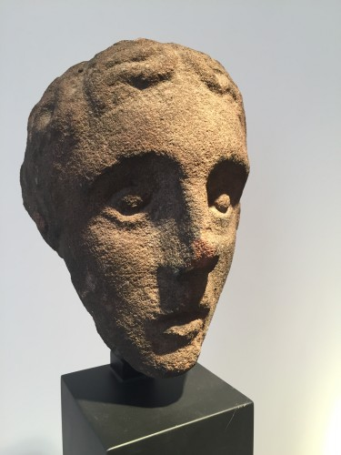 Head of a Youth (West Britain, 14th century) - Sculpture Style Middle age