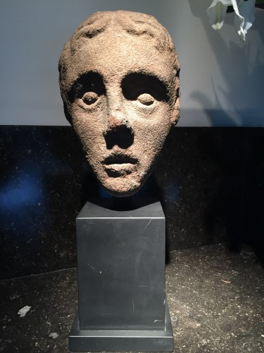 Sculpture  - Head of a Youth (West Britain, 14th century)
