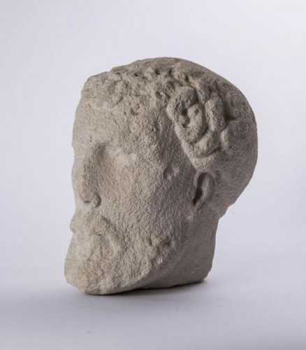 Bearded head (Germany? 13th century) - Sculpture Style Middle age