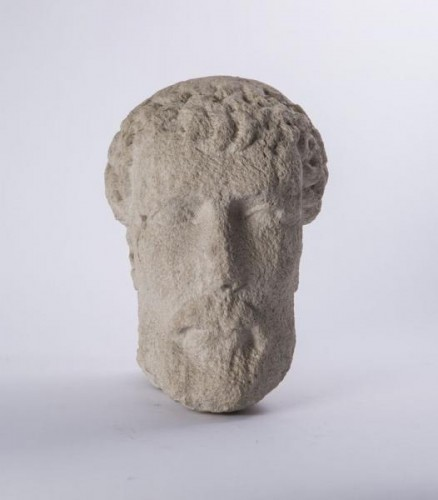 Sculpture  - Bearded head (Germany? 13th century)