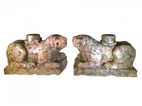 Two Stylophore Lions, Italy circa 1400