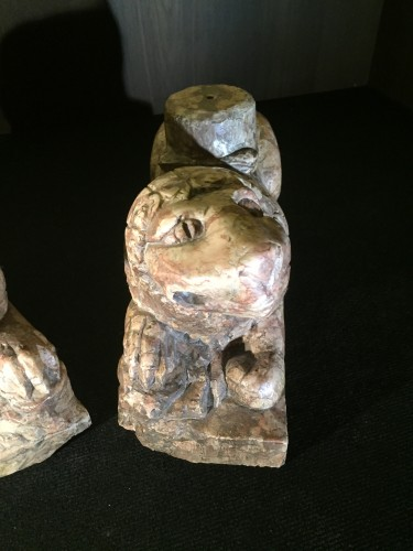 Antiquités - Two Stylophore Lions, Italy circa 1400