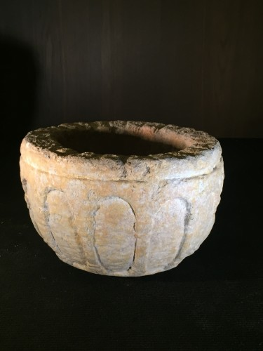 Religious Antiques  - Romanesque Holy Water font (France, ca 1300)
