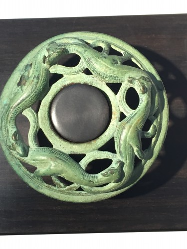 Religious Antiques  - Lizard medallion, France beginning of 13th century