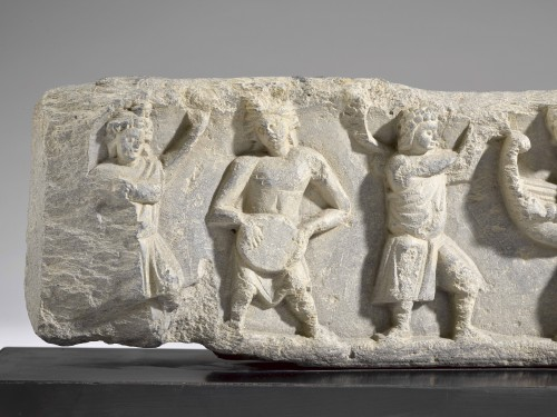 Ancient Art & Antiquities  - Frieze with Dancers and Musicians (Gandhara, 2nd-4th century)