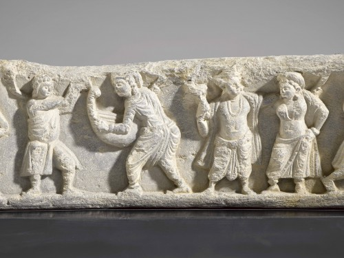 Frieze with Dancers and Musicians (Gandhara, 2nd-4th century) -