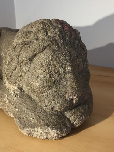 Sculpture  - Sleeping lion, France, 12th-14th century