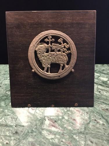 Agnus Dei Roundel (15th cent) - Religious Antiques Style Middle age