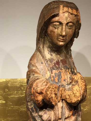 Holy Lady, France 16th century - Religious Antiques Style Middle age