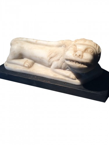 Little lion in marble - Italy, ca 1700