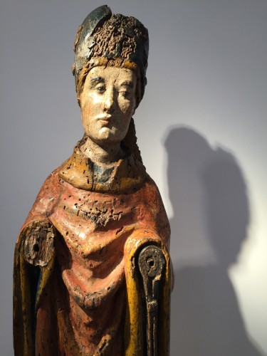 Religious Antiques  - Holy Bishop (Rhine valley, 14th century)