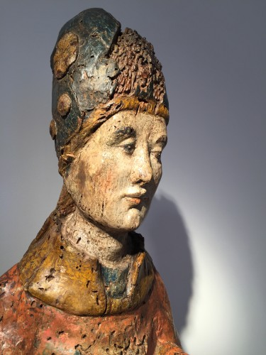 Holy Bishop (Rhine valley, 14th century) - Middle age