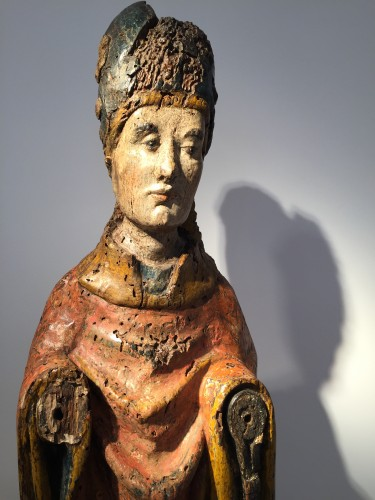 Middle age - Holy Bishop (Rhine valley, 14th century)